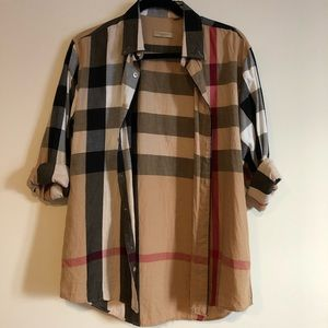 Burberry Brit womens large button down shirt